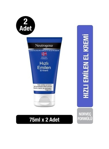 Neutrogena Norveç Formülü Hızlı Emilen El Kremi 75 Ml X2 Renksiz